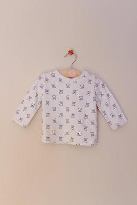 Nutmeg teddy bear long sleeved top (age 3-6 months)