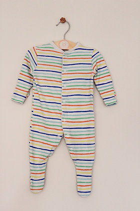 Primark striped sleepsuit (age 0-3 months)