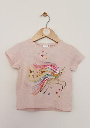 Next sparkly unicorn print t-shirt (age 9-12 months)
