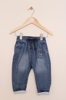 Next lined cat design jeans (age 6-9 months)