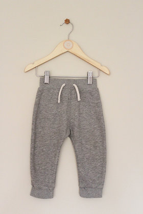 Nutmeg grey fleece lined joggers (age 9-12 months)