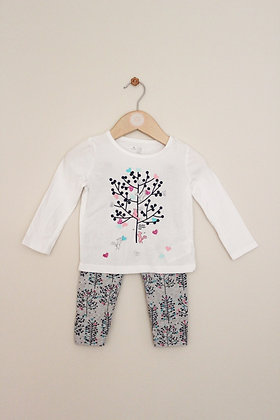 Baby Gap woodland print top and leggings (age 12-18 months)