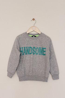George grey 'Handsome' sweatshirt (age 5-6)