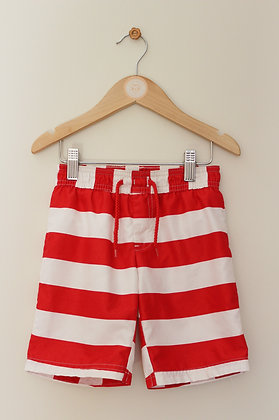 Mothercare red and white striped swimming shorts (age 3-4)
