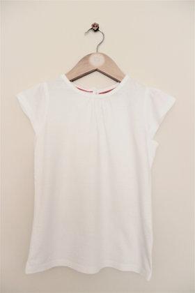 M&S Indigo white t-shirt (age 4-5)