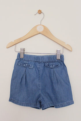 George pull on chambray shorts (age 12-18 months)