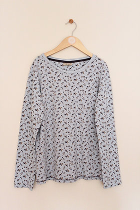 Next pale blue floral long sleeved t-shirt (age 12)