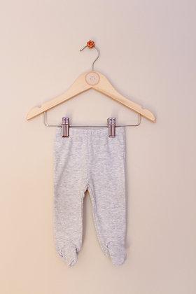 Zara Baby grey leggings with feet (age 1-3 months)