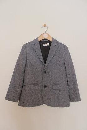 H&M grey tweed blazer (age 6-7)