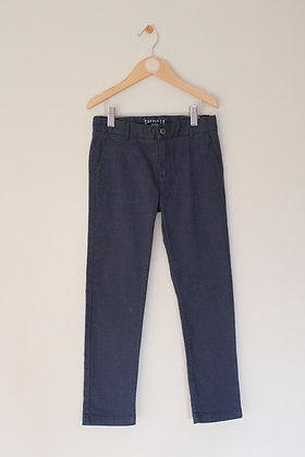 H&M blue twill chino trousers (age 7-8)