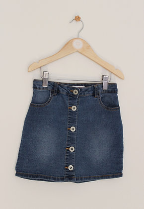 Bluezoo button through denim skirt (age 7)