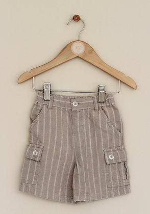 Mila Blue (Vertbaudet) linen blend shorts (age 6-9 months)