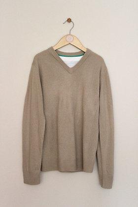 M&S stone mock layer jumper (age 9-10)