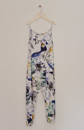 Next strappy floral print jersey jumpsuit (age 8)