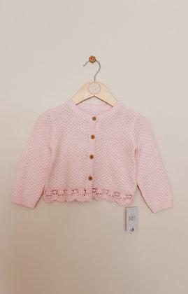 BNWT George pink cardigan (age 9-12 months)