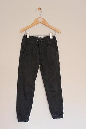 Matalan black cotton cuffed trousers (age 6)