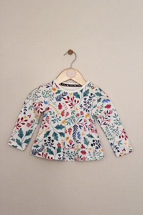 2x TU long sleeved tops with poppered shoulders (age 3-6 months)