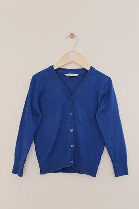 F&F girls blue school cardigan (age 5-6)