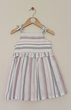 Matalan lined striped cotton strappy sundress (age 2-3)
