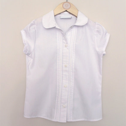 Next white blouse with heart feature buttons (age 7)