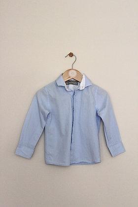Next Signature blue long sleeved smart shirt (age 3)