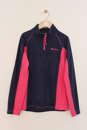 Mountain Warehouse navy and pink fleece (age 9-10)