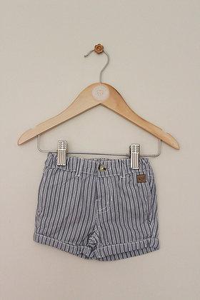 John Lewis cotton stripe shorts (age 0-3 months)