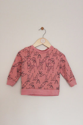 George pink Bambi sweatshirt  (age 12-18 months)