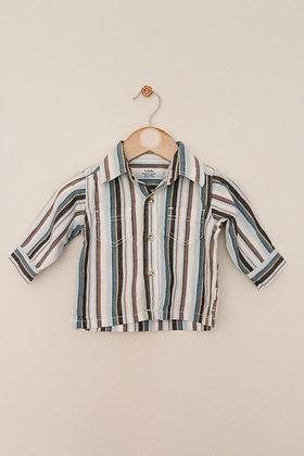 Pumpkin Patch striped cotton shirt (age 3-6 months)