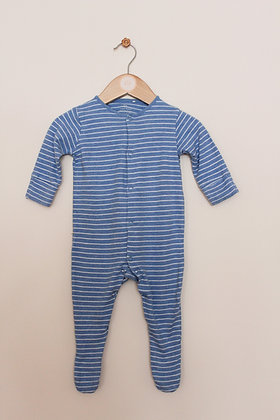 Next blue striped sleepsuit (age 3-6 months)