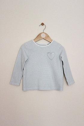 M&S cotton blend striped jumper (age 2-3)