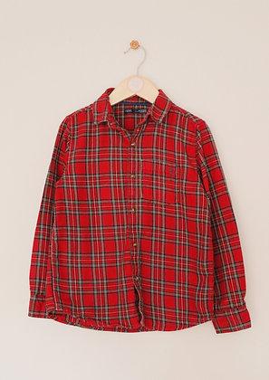 Next brushed red tartan shirt (age 6-7)