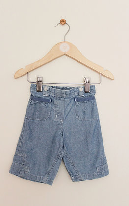 Next lightweight chambray short trousers (age 6-9 months)