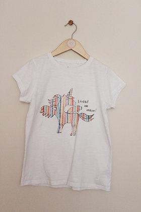 Next rainbow unicorn short sleeved t-shirt (age 10)