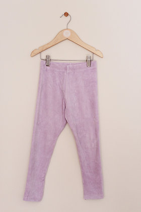 M&S lilac stretchy velour trousers (age 5-6)