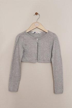 H&M grey sparkly bolero cardigan (age 2-4)