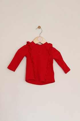 Mothercare red long sleeved top (age 3-6 months)