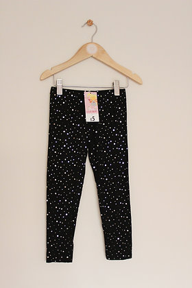 E-vie angel black leggings with mirrored dots (age 4)