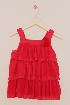 H&M pink tiered net and satin top (age 4-5)