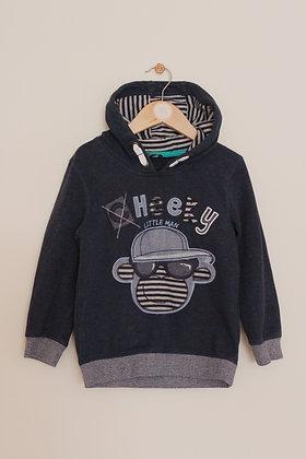 George 'Cheeky little man' hooded sweatshirt (age 4-5)
