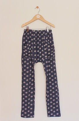 Matalan blue floral jersey trousers (age 10)
