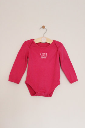 George 'Limited Edition' pink bodysuit (age 12-18 months)