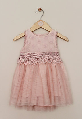 Next pink occasion dress with decorative bodice (age 6-9 months)