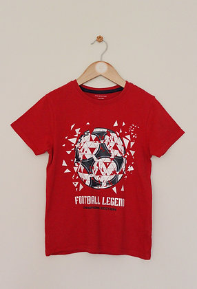 Primark red 'Football Legend' t-shirt (age 7-8)