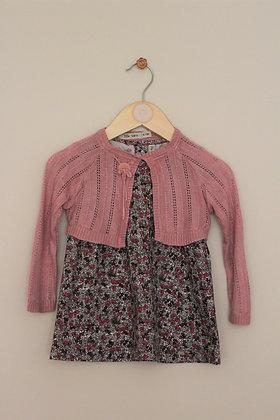 Lille Barn ditsy organic cotton dress & cardigan (age 6-12 months)