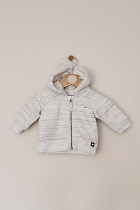 H&M cream flecked full zip hoodie (age 1-2 months)