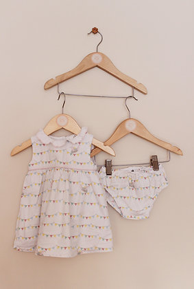 Disney Dumbo cotton dress with matching pants (age 3-6 months)