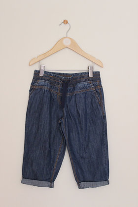 Next lightweight denim cropped trousers (age 8)