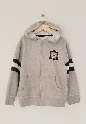 George grey zip through hoodie (age 7-8)