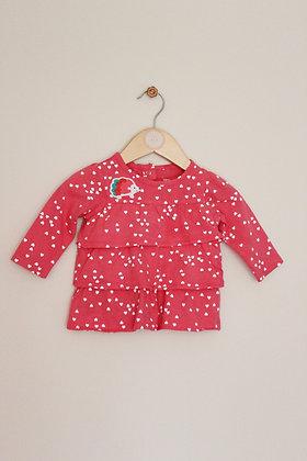 Carters heart print ruffled tunic (6 months)
